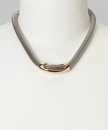 Gold & Silver Mesh Necklace