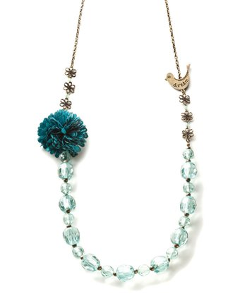Gold & Blue 'Dream' Beaded Necklace