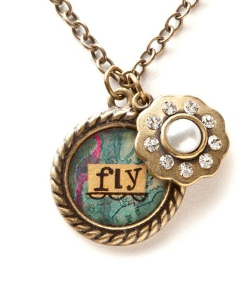 Gold 'Fly' Pendant Necklace