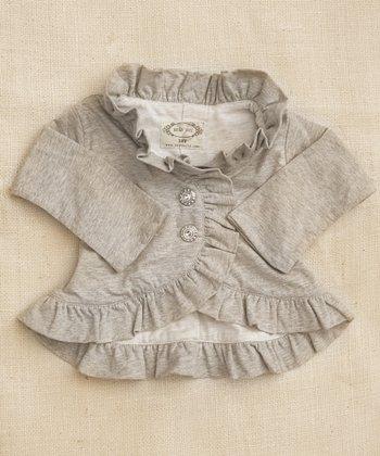 Gray Lavalia Button-Up Jacket - Infant & Girls