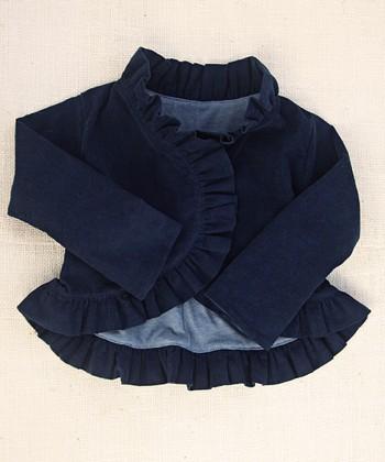 Navy Lavalia Snap-Button Jacket - Infant