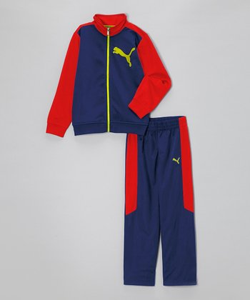 Blue Depths Zip-Up Jacket & Pants - Infant, Toddler & Boys
