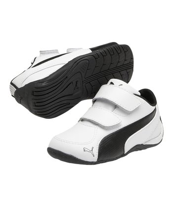 White & Black Drift Cat 5 L V Sneaker