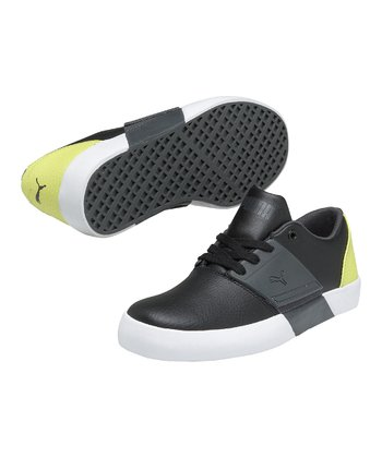 Black & Dark Shadow El Ace 3 Junior Sneaker
