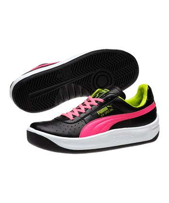 Black & Fluorescent Pink GV Special Junior Sneaker