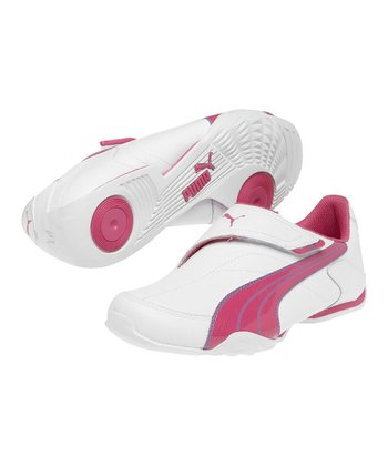 White & Magenta Hyacin Jiyu 2 NM Junior Sneaker