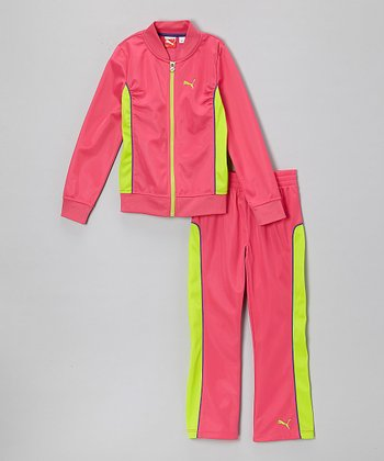 Magenta Zip-Up Jacket & Track Pants - Infant, Toddler & Girls