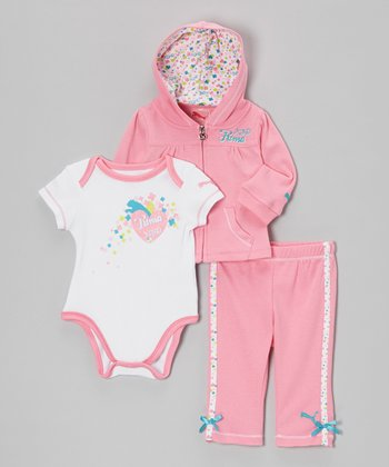 Sachet Pink 'PUMA XOXO' Bodysuit Set - Infant
