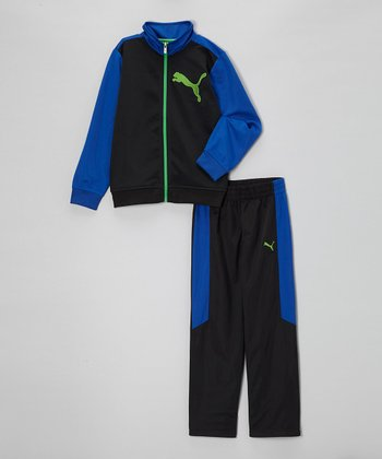 Black Zip-Up Jacket & Pants - Infant & Boys