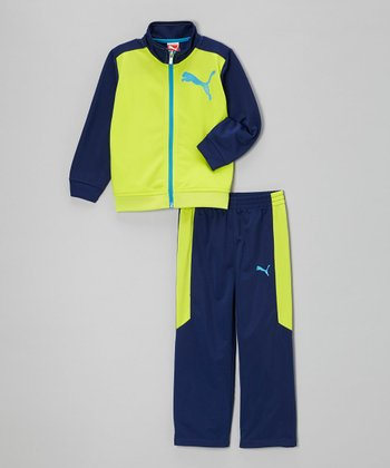 Lime Punch Zip-Up Jacket & Pants - Infant & Boys