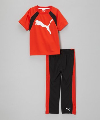 Hi-Risk Red Iconic Tee & Track Pants - Infant, Toddler & Boys