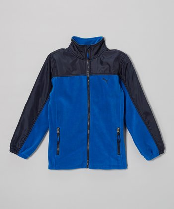 Liquid Blue Polar Fleece Zip-Up Jacket - Toddler & Boys