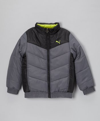 Iron Gate Chevron Quilted Puffer Jacket - Toddler & Boys