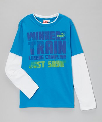 Active Blue 'Winners Train' Layered Tee - Toddler & Boys