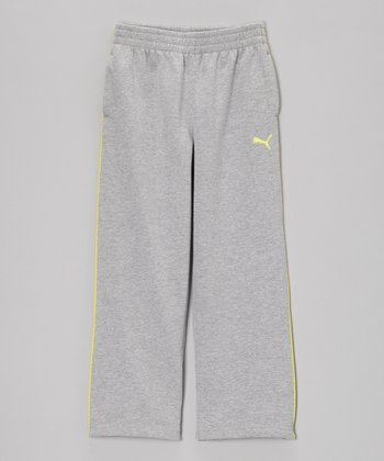 Gray & Yellow Fleece Track Pants - Toddler & Boys