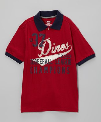 Rio Red 'Dinos' Piqué Polo - Toddler & Boys