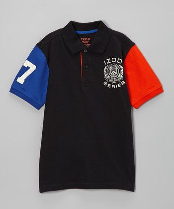 Deep Black Piqué Polo - Toddler & Boys