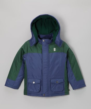Cobalt & Pine Hooded Jacket - Infant, Toddler & Boys
