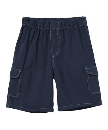 Dark Navy Twill Cargo Shorts - Infant, Toddler & Boys