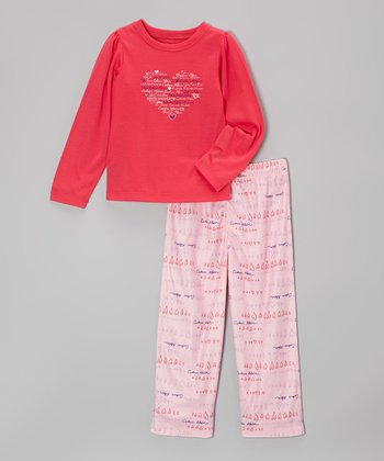 Pink Heart Pajama Set - Toddler