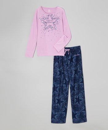 Purple Star Pajama Set - Girls
