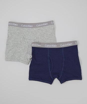 Gray & Navy Brief Set - Boys