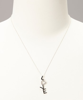 Diamond & Sterling Silver 'Love' Pendant Necklace