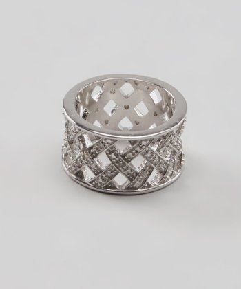 Diamond & Silver Woven Ring