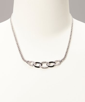 Diamond & Silver Link Necklace