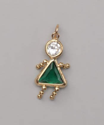 Dark Green May Birthstone Girl Pendant