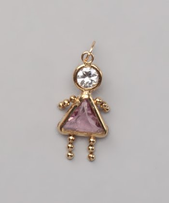 Pink June Birthstone Girl Pendant