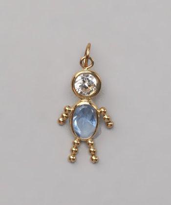 Blue March Birthstone Boy Pendant