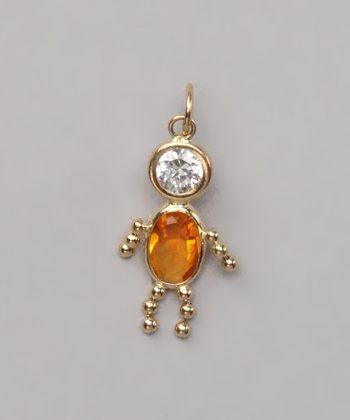 Citrine Yellow November Birthstone Boy Pendant