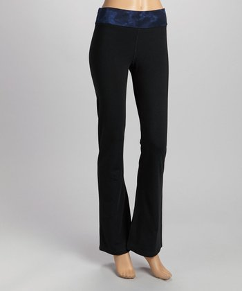 Black & Navy Tie-Dye Band Organic Lounge Pants
