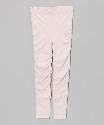 Pink Ruched Leggings - Toddler & Girls