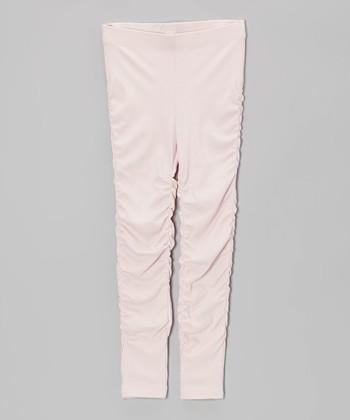Pink Ruched Leggings - Toddler & Girls