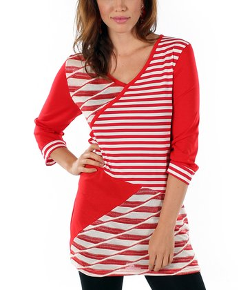 Red & White Stripe Tunic