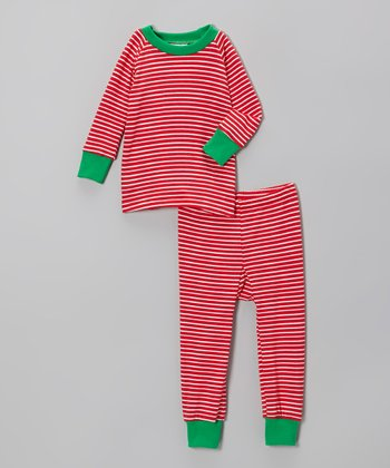 Red Stripe Pajama Set - Infant & Toddler