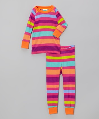 Pink Stripe Pajama Set - Infant & Toddler