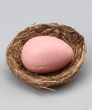 Pink Scented Egg Nest Soap Favor - Set of 12
