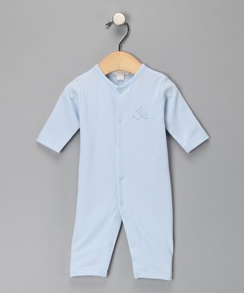 Kissy Kissy Light Blue Embroidered Playsuit - Infant