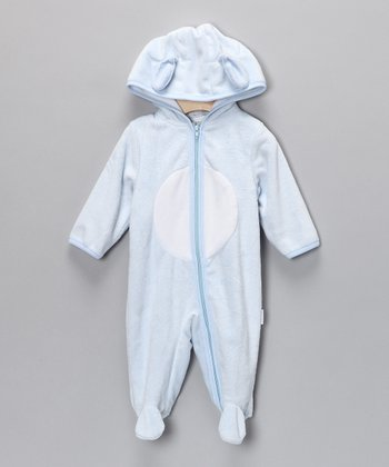 Vitamins Baby Blue Puppy Hooded Footie - Infant