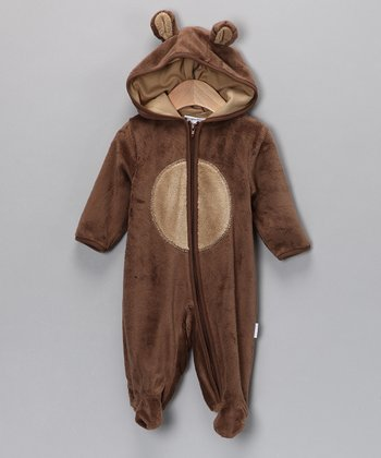 Vitamins Baby Brown Bear Hooded Footie - Infant
