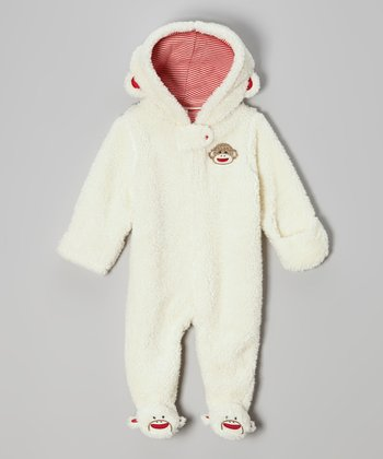 White Monkey Sherpa Bunting - Infant
