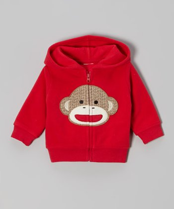 Red Monkey Zip-Up Hoodie