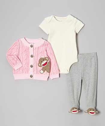Pink Take Me Home Bodysuit Set - Infant