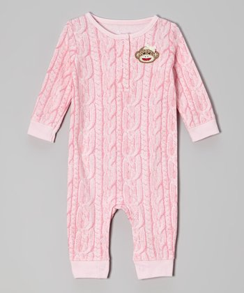 Pink Monkey Playsuit - Infant