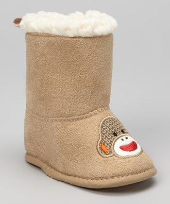 Tan Monkey Faux Fur Boot