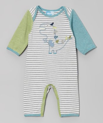 Gray Dino Playsuit - Infant
