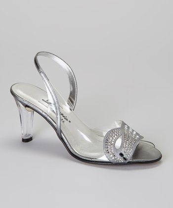 Silver Sunshine Peep-Toe Pump